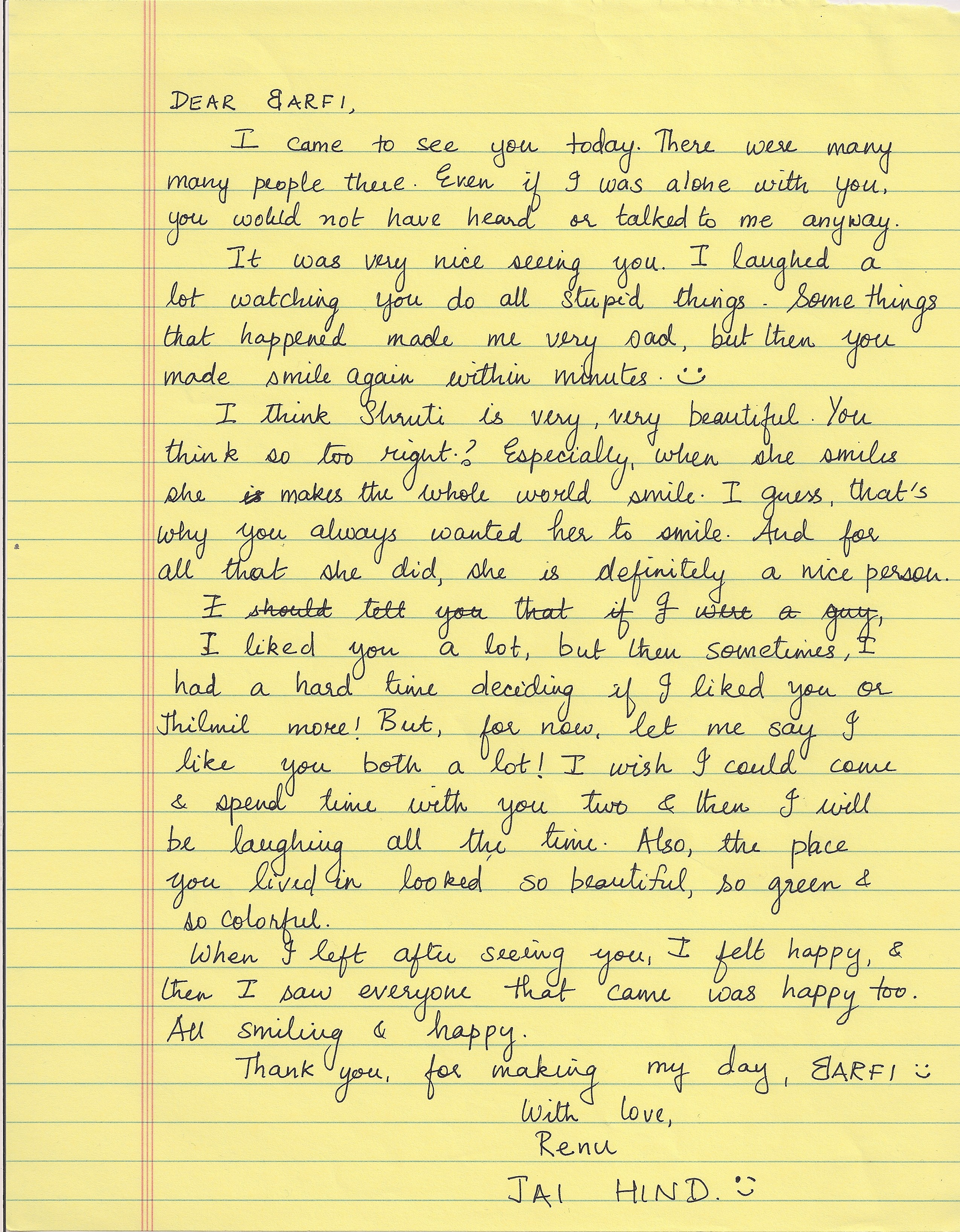 Sad letter to boyfriend