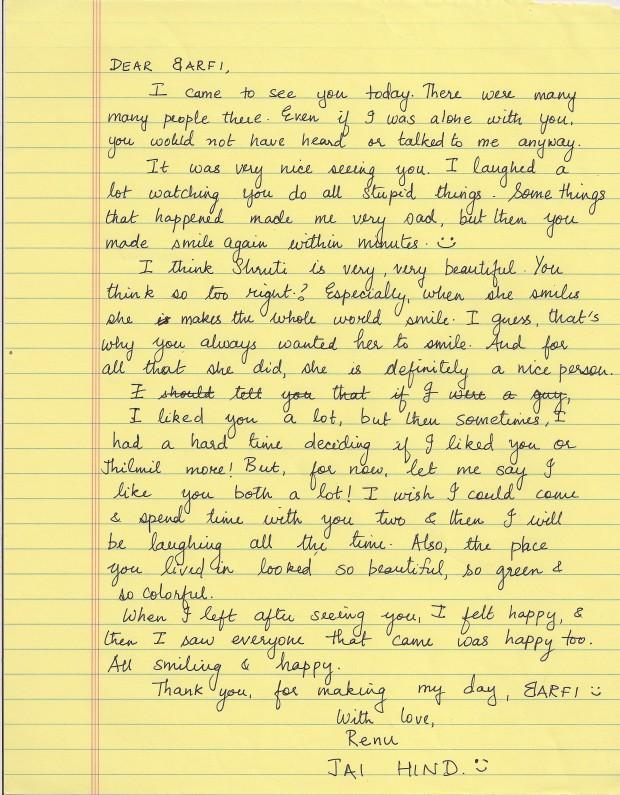 Malayalam Love Letter In English Barfi(2012) – Endear...